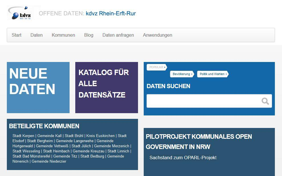 Screenshot Portal opendata